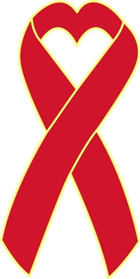Heart Disease Awareness Ribbon Pin - Red