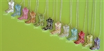 J001 BY COLOR - COWGIRL BOOT NECKLACES</B> - PICK YOUR OWN COLOR