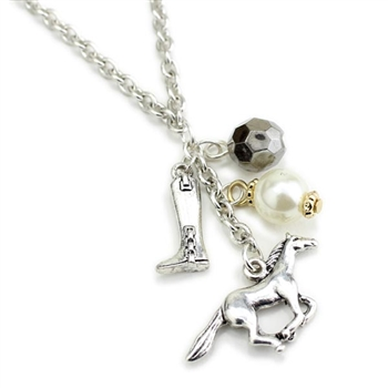 English Horse Charms Necklace - Package (3)