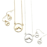 Mountain Circle Necklace Set - Gold or Silver- Package (3)