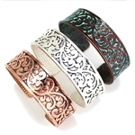 Thin Eden Cuff Bracelet by Color - Silver or Patina- Package (3)