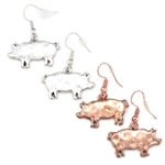 """Wilbur"" Pig Earring - Copper or Silver - Package (3)"