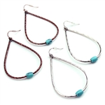 Simple Drop Earrings by Color - Silver or Patina - Package (3)