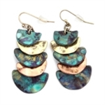 Layered Waterfall Earrings - Patina or Three-Tone- Package (3)