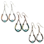 Artisan Horseshoe Earrings - Gold, Patina or Silver - Package (3)