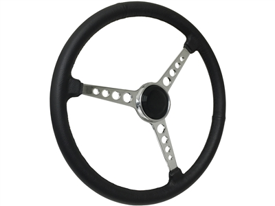 Sprint Steering Wheel Black Kit - 3 Spoke Hot Rod design