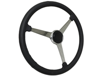 Sprint Steering Wheel Black Kit - Solid 3 Spoke Hot Rod design