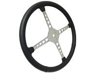 "Sprint Steering Wheel - 15"" Black Leather - 4 Spoke with Holes design"