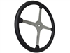 "Sprint Steering Wheel - 15"" Black Leather - Solid 4 Spoke design"