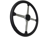Sprint Steering Wheel Black Kit - Solid 4 Spoke Hot Rod design