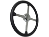 Sprint Steering Wheel Chrome Kit - Solid 4 Spoke Hot Rod design