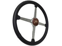 Sprint Steering Wheel Ford De Luxe Kit - Solid 4 Spoke Hot Rod design