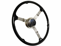 "16"" Banjo Steering Wheel Kit with Embossed V8 Button"