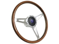 Ford , Mustang , 1967 , 1968 , 1969 , 1970 , 1971 , 1972 , 1973 , Wood , Sebring , Shelby Style Steering Wheel , full kit , horn ring , rivets , OE , volante , auto pro usa , brand new , reproduction , Running Pony , Blue