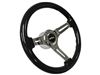 LimeWorks , Black Ash , Wood , Steering Wheel , Chrome Spoke , GM Spline , Ididit , Flaming River , Universal Column ,