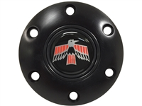 S6 Black Horn Button with 1967-69 Firebird Emblem