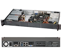 Supermicro 1U SuperChassis CSE-504-203B 8 Hot-swap 2.5'' SAS/SATA HDD trays UIO Full height Full Length Low Profile expansion 80PLUS Platinum Optimized for DP motherboards Full Warranty