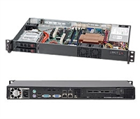 Supermicro CSE-510T-203B 200W Mini 1U Rackmount Server Chassis (Black)