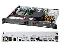 Supermicro 1U SuperChassis CSE-512-260B 8 Hot-swap 2.5'' SAS/SATA HDD trays UIO Full height Full Length Low Profile expansion 80PLUS Platinum Optimized for DP motherboards Full Warranty