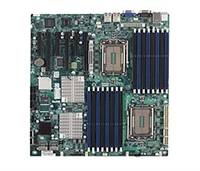 Supermicro A+ H8DG6 AMD Motherboard Dual Opteron 6000 series 1944-pin Socket G34 up to 512GB DDR3 RAMS Dual-port GbE controller 6 SATA2 ports via SP5100 RAID 0,1,10  LSI 2008 8 ports SAS controller RAID 0,1,10 RAID 5 optional Full Warranty