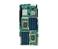 Supermicro A+ H8DGG-QF AMD motherboard Opteron 6000 Proprietary form factor Dual 1944-pin Socket G34 Dual-port GbE up to 512GB DDR3 6 ports SATA2 via AMD sp5100 RAID 0,1,10 Integrated Graphics IPMI 2.0 Full warranty
