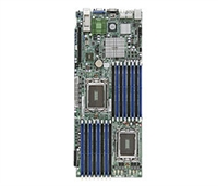 Supermicro A+ H8DGT-HIBQF AMD motherboard Opteron 6000 Proprietary form factor Dual 1944-pin Socket G34 Dual-port GbE up to 512GB DDR3 6 ports SATA2 via AMD sp5100 RAID Mellanox ConnectX-2 IB with Single QSFP connector support IPMI 2.0 Full warranty
