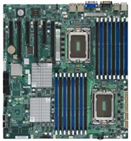 Supermicro A+ H8DGi-F AMD Motherboard E-ATX Form Factor Dual Opteron 6000 series 1944-pin Socket G34 hyper transport up to 512GB DDR3 RAMS Dual-port GbE Lan 6 SATA2 ports via SP5100 RAID 0,1,10 Integrated Graphics IPMI 2.0 KVM Full Warranty