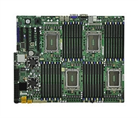 Supermicro A+ H8QG6-F AMD Motherboard Quad Opteron 6000 series 1944-pin Socket G34 up to 1TB DDR3 RAMS Dual-port GbE controller 6 SATA2 ports via SP5100 RAID 0,1,10  LSI 2008 8 ports SAS controller RAID 0,1,10 RAID 5 optional IPMI 2.0 Full Warranty