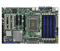 Supermicro A+ H8SGL AMD Motherboard ATX Form Factor Single Opteron 6000 series 1944-pin Socket G34 up to 256GB DDR3 RAMS 2 Dual-port GbE Lan 6 SATA2 ports via SP5100 RAID 0,1,10 Integrated Graphics Full Warranty