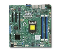 Supermicro MBD-X10SLM-F LGA1150 Socket H3 Supports 4th Generation SATA Core Quad GbE LAN Port DOM power connector IPMI 2.0 TPM header VGA D-sub support Intel Node Manager Full Warranty