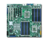 Supermicro MBD-X8DTN+ Dual LGA 1366 6 SATA Ports via ICH10R Dual GbE LAN Ports ATI ES1000 Graphics with 32MB video memory IPMI 2.0 Full Warranty