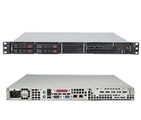 "Supermicro 1U Server SYS-1015B-3B Barebone Single LGA775 ZIF Socket Supports Quad-Core Intel Xeon X3300/X3200 series Intel Dual 82574L PCI-e Gigabit Controllers 4 x 2.5"" Hot-swap SAS Drive Trays 560W 85%+ High-efficiency Power Supply Full Warranty"