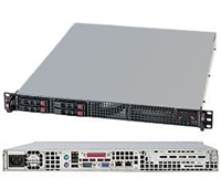 "Supermicro 1U Server SYS-1017C-TF Barebone Intel Xeon processor E3-1200 Single socket H2 LGA 1155 4x 2.5"" Hot-swap SATA2 HDDs Up to 32GB DDR3 ECC 1333MHz Intel 82579LM and 82574L,GbE LAN IPMI 2.0 6x SATA 330W Gold Level Power Supply Full Warranty"