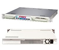 Supermicro 1U Server Server SYS-5015M-MF+ Barebone Single LGA775 ZIF Socket Supports a Quad-Core Intel Xeon 3200 series processor 1x Intel 82573L&82573V PCI-e Gigabit LAN 1x Internal Drive Bay 260W Power Supply Full Warranty