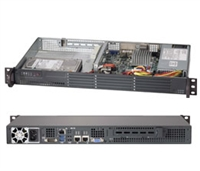"Supermicro 1U Server SYS-5017A-EF Barebone Intel Atom Intel Atom Processor S1260 2x 3.5"" Fixed SATA3 HDD bays with RAID options Up to 8GB ECC DDR3 2x GbE via Intel i350AM2 IPMI 2.0 on Dedicated LAN port 200W Low-noise power supply with PFC Full Warranty"