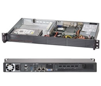 "Supermicro 1U Server SYS-5017A-EP Barebone Intel Atom N2800 2x 3.5"" Fixed SATA3 HDD bays with RAID options Up to 4GB Non-ECC DDR3 Dual Intel 82574L GbE LAN ports 200W Low-noise power supply w/ PFC NM10 Express Chipset Full Warranty"