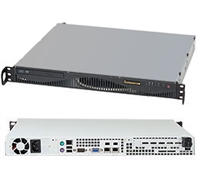 "Supermicro 1U Server SYS-5017C-MF Barebone Single socket H2 LGA 1155 supports Intel Xeon E3-1200 2x Internal 2.5""/3.5"" HDDs Up to 32GB DDR3 ECC 1333MHz Intel 82579LM and 82574L GbE  IPMI 2.0 6x SATA 2.0 350W Gold Level Power Supply Full Warranty"