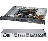 "Supermicro 1U SuperServer SYS-5018D-MF Single socket H3 LGA 1150 Intel C222 Express PCH  2x Internal 3.5"" SATA3/2 HDD bays Dual Gigabit Ethernet LAN ports  IPMI 2.0 on Dedicated LAN port 350W Gold Level Power Supply Full Warranty"