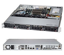 "Supermicro 1U Server SYS-5018D-MTF Barebone Single socket H3 LGA 1150 Intel Xeon E3-1200 Intel C224 Express PCH 4x 3.5"" Hot-swap SATA3 HDD bays Dual Gigabit Ethernet LAN ports  IPMI 2.0  350W Gold Level Power Supply Full Warranty"