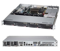 "Supermicro 1U Server SYS-5018D-MTRF Barebone Single socket H3 LGA 1150 supports Intel Xeon E3-1200 Intel C224 Express PCH 4x 3.5"" Hot-swap SATA3 HDD bays Dual GbE LAN ports IPMI 2.0  400W Redundant Power Supplies Full Warranty"