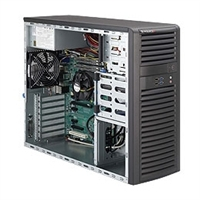 Supermicro Mid-Tower SuperServer SYS-5037A-iL Single socket H2 (LGA 1155) supports Intel® Xeon E3-1200 series, Intel 82579LM and 82574L, 2x GbE LAN Ports 500W 80PLUS Bronze Level High Efficiency Power Supply Full Warranty