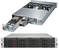 Supermicro SYS-6028TP-DNCFR SuperServer/ TwinPro Server/ 2U Rackmount/ Dual LGA2011/ Single port IB / QSFP connector/ Intel® i350-AM2 Dual port GbE LAN/ Integrated IPMI 2.0 with KVM and Dedicated LAN/ Broadcom 3008 SAS3 controller/ 1600W Power Supply