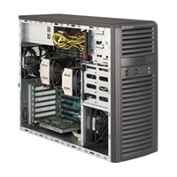 Supermicro Mid-Tower SuperServer SYS-7037A-i Dual socket R LGA 2011 supports Intel Xeon processor E5-2600  and E5-2600 v2 Intel i350 Dual port GbE  2x SATA3 and 8x SATA2 ports 900W High Efficiency Power Supply Full Warranty