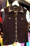 Christine Alexander Black Denim Vest