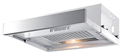 EURO APPLIANCES ESD60RS 60CM FRONT VENTED SLIDEOUT RANGEHOOD S/STEEL