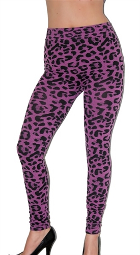 these stretchy leopard print leggings are very stretchy, fitted and high waist, In style fashion leggings, sexy leggings to party in, club wear legging pants, high waist leggings, animal print leggings for party club wear from www.jadedstyles.com, trendy