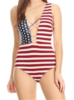 American flag USA sequin bodysuit