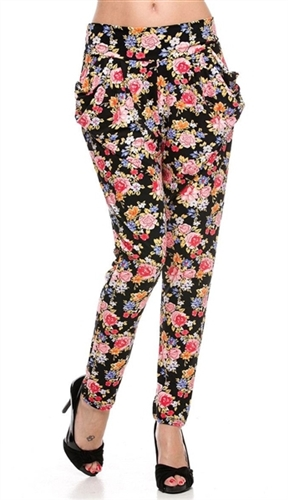 trendy roses high waist festival Party pants, sexy boho Pants to party in, fall party rose print pants with pockets, trendy yoga festival pants, high waist rose pants, sexy rose print party pants, high waist trouser for casual or party trouser pants