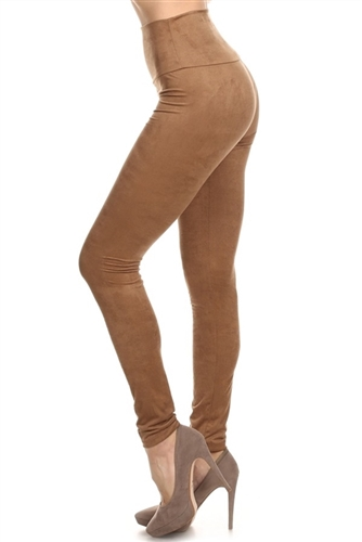 tan_high_waist_plush_suede-Leggings