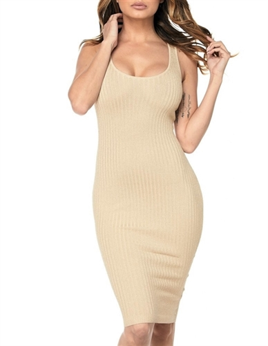 Gold sparkly metallic bodycon dress